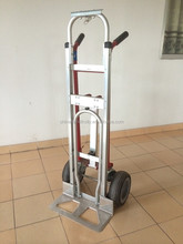 folding aluminium hand trolley with noseplate extension 4-in-1 hand truck