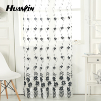 100% polyester embroidery voile curtain
