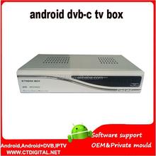 iptv subscription blackbox dvb-c android+Cable Receiver StreamBox D1c singapore set top box+DVB IPTV replace streambox c1