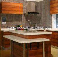 HUAXU high glossy PU paint kitchen cabinet