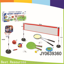 Novelty plastic big basketball / badminton courts sport toys educational toys for teens