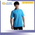 170 gsm poliéster y algodón trabajo de la camisa azul para el conductor