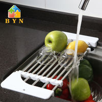 BYN stainless steel plastic chopping board with knife storage DQ-0075