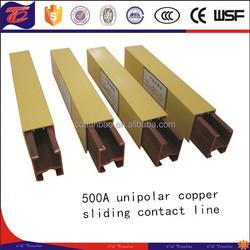 500A unipolar copper sliding contact line in chongqing