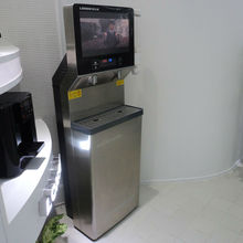 china airport equipment fountain 19'' LCD display water dispenser with filter system inside: PP+CTO+UF