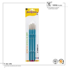 High Quality 6pcs White Synthetic Hair Artist Liner Brushes