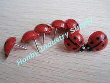 Novelty items ladybug shape decorative push pin