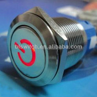 install push button switch with 304 stainless steel and aluminum passed CE, ROHS, IP67