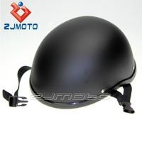 Custom Flat Black Half Helmet ABS Motorcycle Skull Cap Novelty Low Profile Half Helmet For Adult Medium Chopper Cruiser Bike
