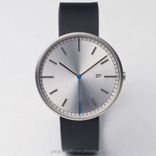 Simple design your own genuine leather 316L stainless steel case brand watch