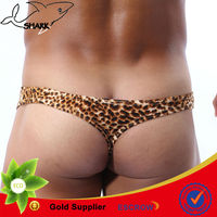 Animal printing mens underwear factory in china low rise g-strings for male