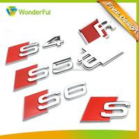 Professional Auto Accessories Factory High Quality 3M Sticker Type Shiny Chrome Plated Hard Plastic Soft Enamel S6 Car Emblem