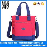 2015 high quality suitable for lady size multi-functional waterproof nylon shoulder bag fashion latest ladies handbags
