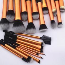 gold makeup kit with cylinder brush case,long aluminium make up set free sample,high-end profession makeup brush set