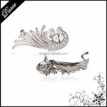 DLY Aliaba express 925 Sterling Silver Fashion Angel Wing & Feather Ear cuff Earrings Jewelry Cheap Ear cuff wholesale