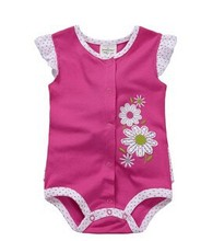 2015 hot sale baby cotton short sleeve romper with many styles