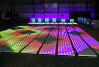 60*60cm portable cheap led digital dance floor for night club