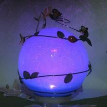 azul de vidrio timbo decoraciones de navidad de regalo bola de luces