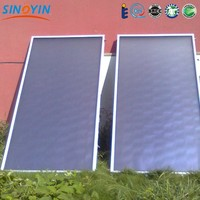 Blue TiNox Sputtered Flat Panel Solar Collector