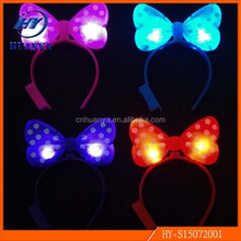 Yiwu wholesale multicolor Christmas Mouse Ears led hair band lights,Party supply christmas gift Led Hair Band