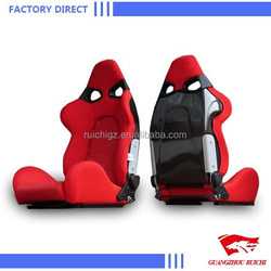 High Quality Adjustable PVC Leather Red Racing Car seats For Sale