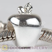 Solid Sterling Silver Charm Beads Wholesale Apple Shaped Charms