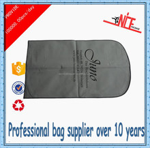foldable nonwoven gray garment dry clean bags with zipper