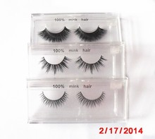 Korean imported real mink Material and hand made Type private label custom eyelash
