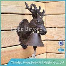 Animal head door bell ring wall decor metal art and wall decor