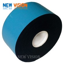 Blue film/blue release paper black foam double sided eva/pe foam tape