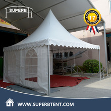 4mx4m Top Grade Auto Show Pagoda Tents with PVC Window Sidewalls