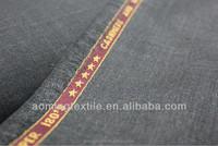 Wholesale Dark Grey 100% Wool Cheap Stock Lot Fabric in Hopsack
