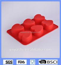 3D amor del corazón forma hornada de la torta estaño pastel en forma de corazón latas / molde del corazón del silicón