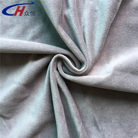 Grey or varous colors short pile fleece school uniform fabric or for sportswear, garment, dress, suit ,toy and home tetile
