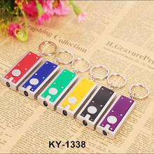 Wholesale china new arrival rectangle mini led flashlight keychain for promotive gift