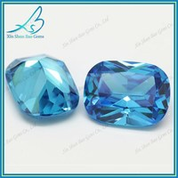 Lab grown zircon stone aquamarine cz stone