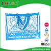 pvc silk printing screenprinting handled cheap shopping bag