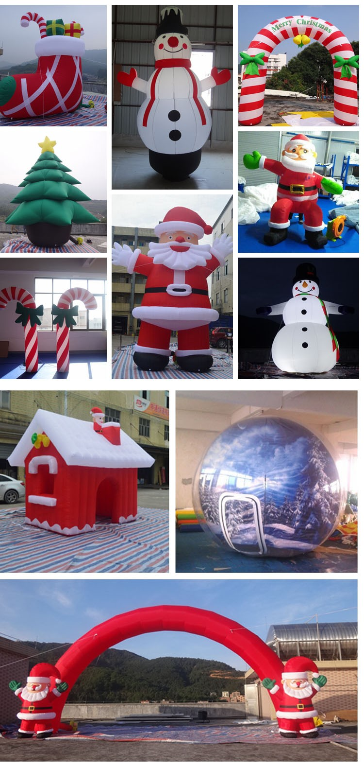 Giant Outdoor Olaf Inflatable Christmas Snowman With Led Light ...