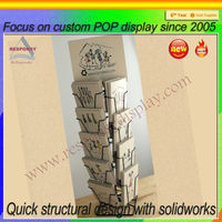 2014 new metal business card display stand for shop