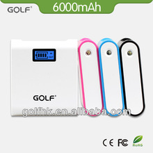 alibaba express hot-selling portable mobile phone charger lcd power bank 6000mAh power bank lcd charger cell phone power supply