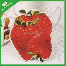 die cut strawberry shaped paper air freshener, make hanging paper air freshener, air freshner for car
