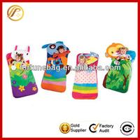 Lovely cotton kids animal sleeping bags