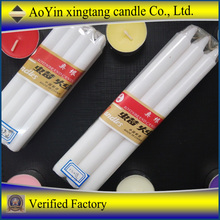 stick white household candles for home decoration use/high quality and long burning time wax candle wholesale +86-15354440202