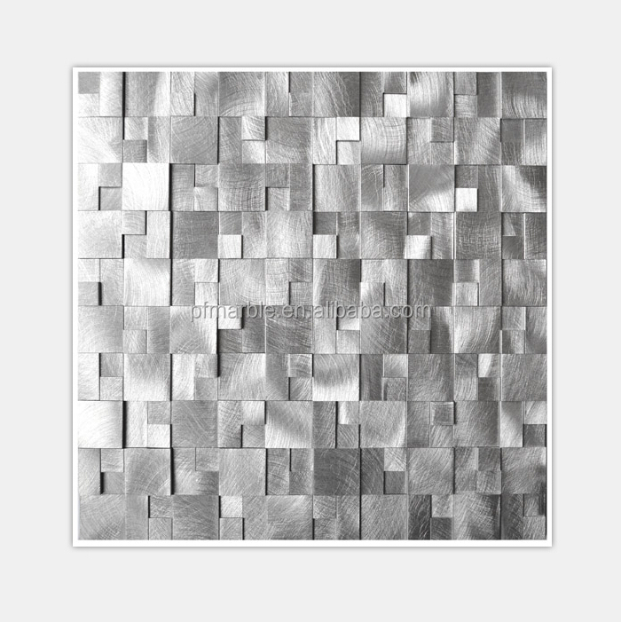 Wall Decorative Metal Mosaic 3d Tiles Buy Metal Mosaic