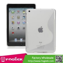 Special S Shaped TPU Gel Case Cover for iPad Mini