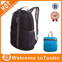 Fashion foldable multi color backpack eco sport school bag fabric