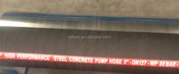DN125 Four Layers Steel Cords Flexible Joint Strong Abrasion Resistant Concrete Pump Delivery Rubber Hose/Concrete Hose 85Bar