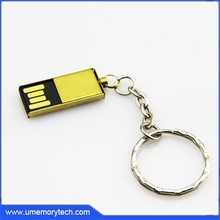 Simple design waterproof usb pen drives bulk cheap key chain flash disk factory price