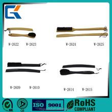 Customize high quality cheap black long wooden shoe horn
