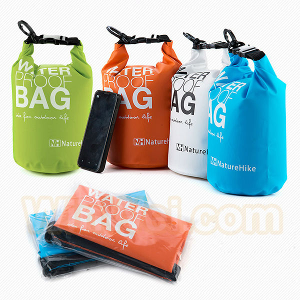 Waterproof dry bag with strap for boating and swimming